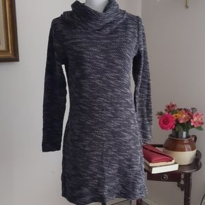 LOFT Gray Toned Medium Sweater Dress